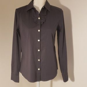 Banana Republic Long Sleeve Button Down Grey Shirt